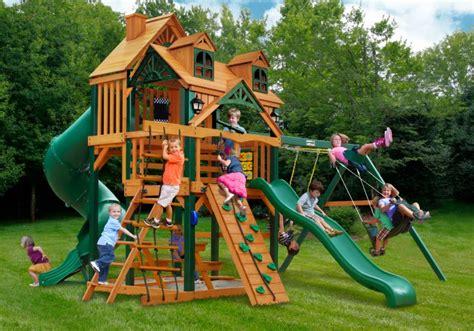 plastic backyard playsets exterior funfull children outdoor activities with gorilla