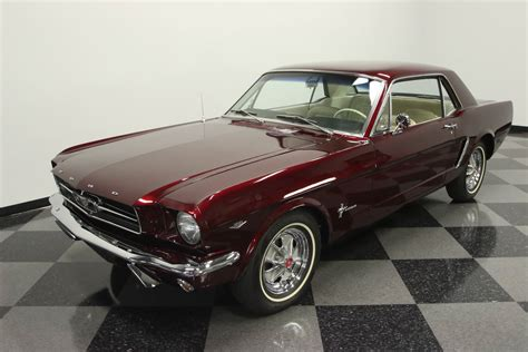 mustang car collection ford mustang 1965 rubinrot nr classic car collection