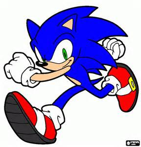 sonic running coloring printable sonic running