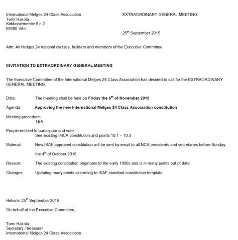 extraordinary general meeting minutes template extraordinary general meeting of im24ca on november 6th