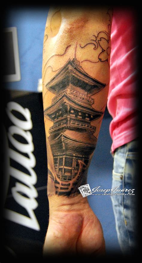 pagoda tattoo pagoda tattoos tatoo and tattos