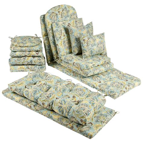 Jacobean Floral Indoor/Outdoor Chair Cushions Collection