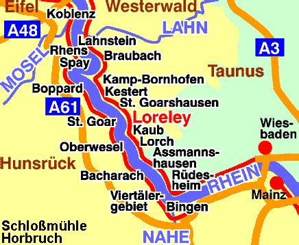 rhine germany map map of germany rhine river maps german valley road