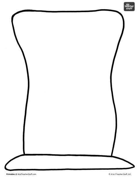 mini top hat template clipart best