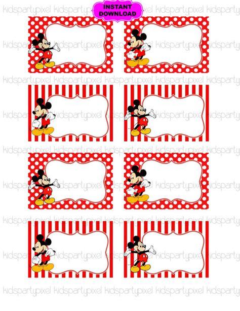 printable mickey mouse name tags mickey mouse name tag minnie mouse printable digital
