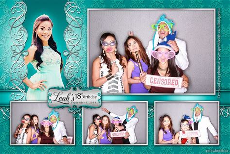 Photo Booth Layout Design For Debut | double celebration with 2 photo booth layouts