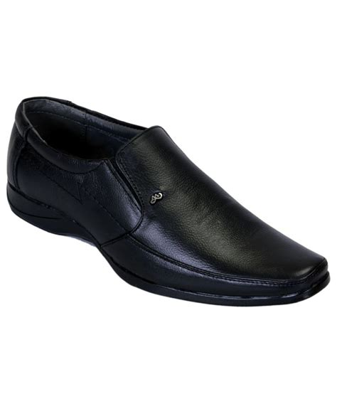 buy shoebook black leather formal shoes for snapdeal