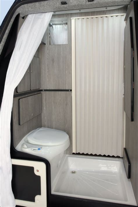 conversion vans with bathrooms 54 best rv toilets images on pinterest caravan mobile