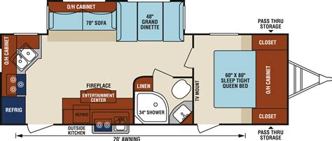 Chateau Rv Floor Plans by 100 Rear Kitchen Rv Floor Plans New 2016 Forest