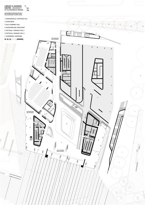 zaha hadid floor plans vienna university of economics library and learning centre