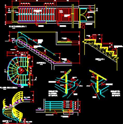 stairways  curves  straight  dwg detail