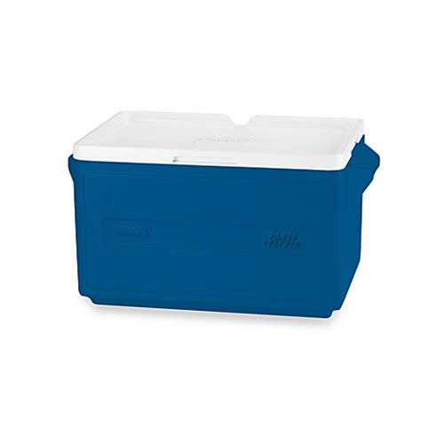 48 Cans Stacker Cooler Blue buy coleman 174 48 can stacker cooler in blue from bed bath beyond