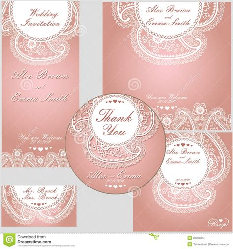 Paisley Border Lace Design Template Stock Vector Image 39038343 Paisley Wedding Invitation Template