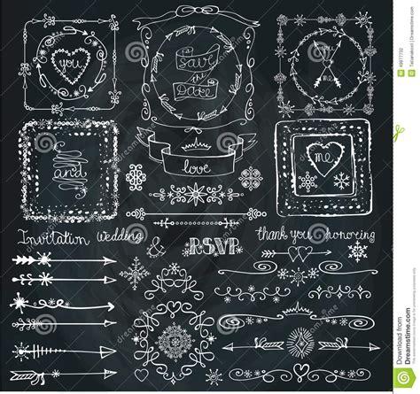 Superior Christmas Ornament Wedding #3: Winter-doodle-decor-set-frame-border-ribbon-hand-love-christmas-doodles-vector-card-template-chalkboard-49877732.jpg