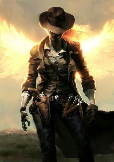 the gunslinger an angel stuck in the old west abandoned