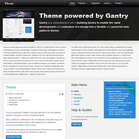 joomla themes gantry theme gantry joomla шаблон от jvgtheme