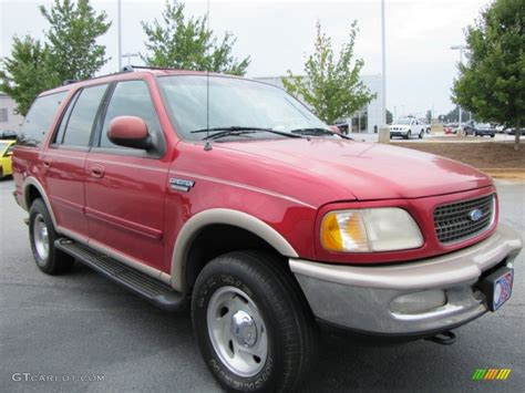 ford expedition red 1997 laser red metallic ford expedition eddie bauer 4x4