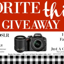 Dslr Giveaway - christmas play date fantabulosity