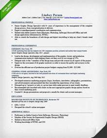 Graphic Designer Sample Resume Graphic Design Resume Sample Amp Writing Guide Rg