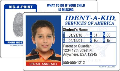 american id card template ident a kid celebrates 25 years of helping protect