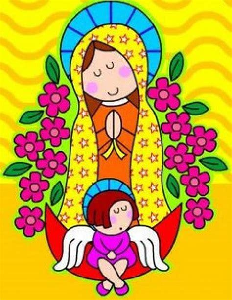 imagen virgen guadalupe infantil lista oraciones a la virgencita