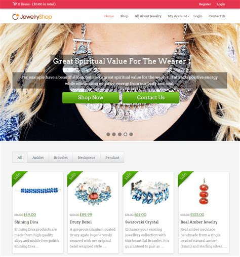 Handmade Website - 10 best jewelry store themes 2018