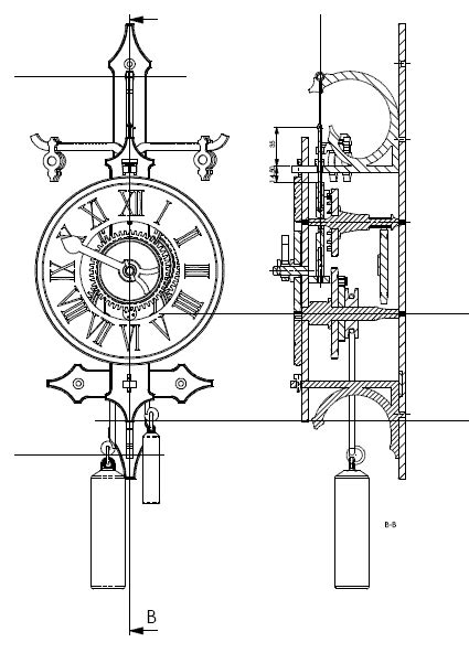 woodwork wooden gear clock plans  patterns dxf  plans