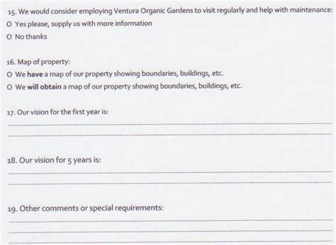 questionnaire design inspiration backyard design questionnaire izvipi com