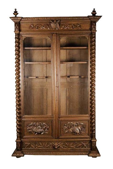 gun cabinet bookcase antique carved oak converted bookcase locking gun