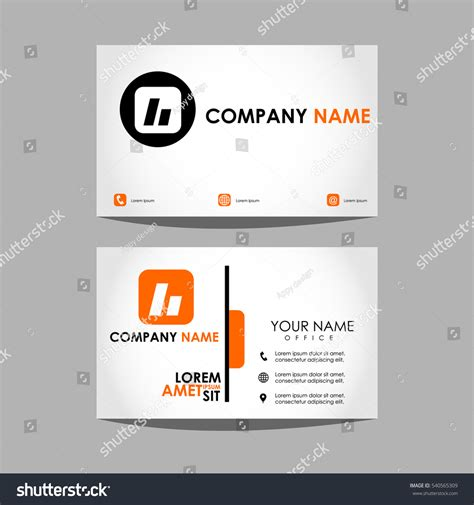 id layout design template layout design template id card business stock vector