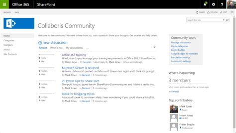 5 Tips Showing How To Use Sharepoint For Internal Communications Collaboris Sharepoint 2016 Site Templates