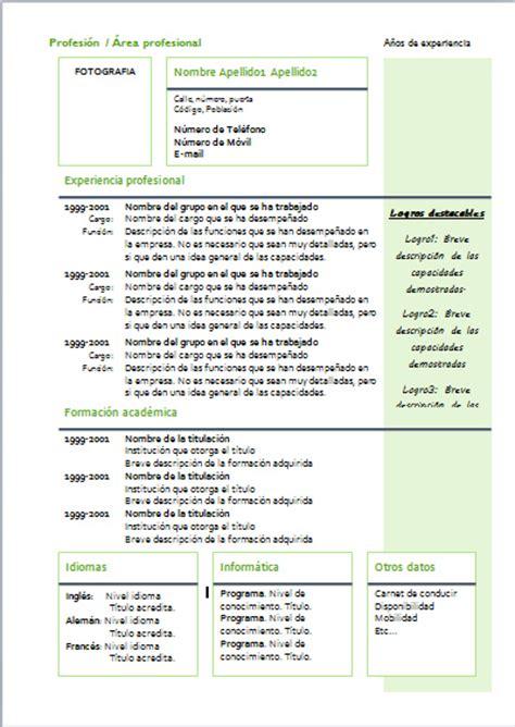 Plantilla De Curriculum Tematico Modelo De Curriculum Vitae Funcional O Tematico Modelo De Curriculum Vitae