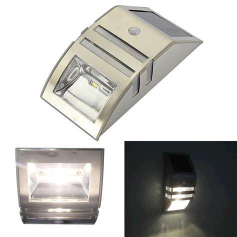 motion sensor solar lights outdoor stainless steel outdoor solar powered l led pir motion