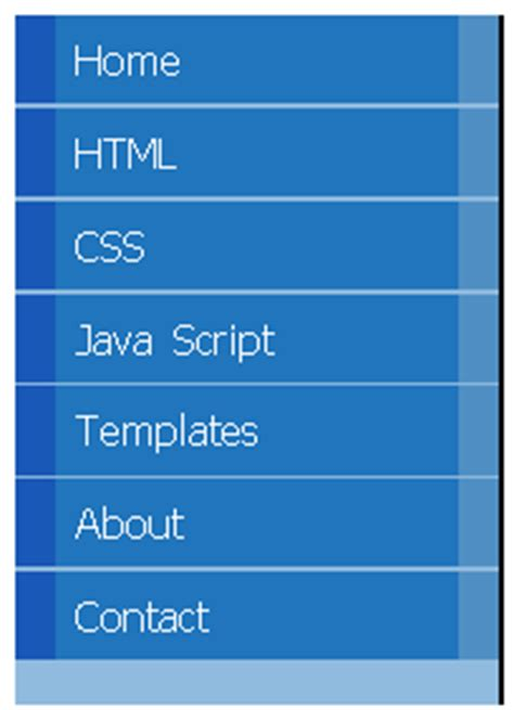 Tutorial Css Menu Vertical | css vertical menu tutorials menu 17 blogger tips and tricks