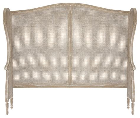 french headboard king french country white wash wing back caned headboard king