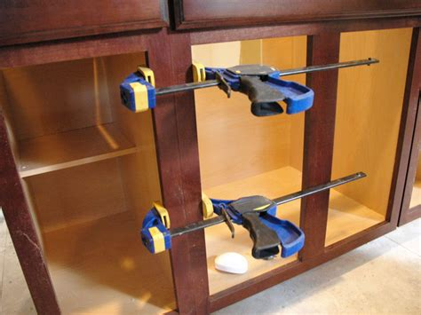 How To Attach Kitchen Cabinets Together by How To Attach Kitchen Cabinets Together Installing Our