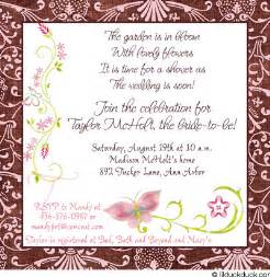 gift card bridal shower invitation poem wedding invitation sle