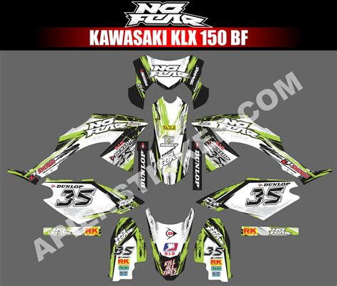 Sticker Decal Striping Dekal Stiker Klx 149 Glossy striping motor kawasaki klx bf 150 no fear apien sticker