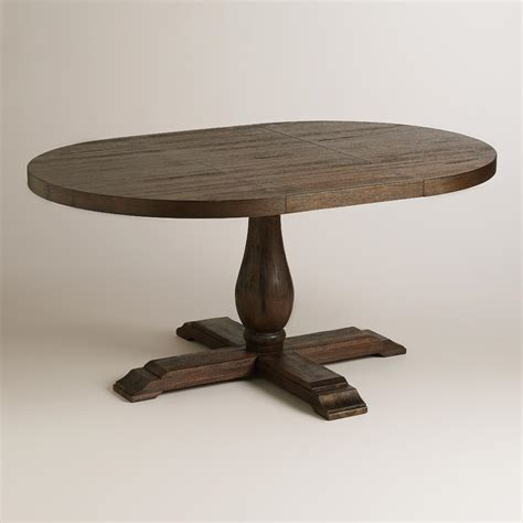 Greyson Dining Table To Oval Java Greyson Extension Table World Market