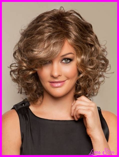hairstyles for medium length hair and round face medium length curly haircuts for round faces livesstar com