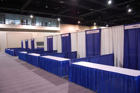 pipe drape rental trade show a v services kettner creative