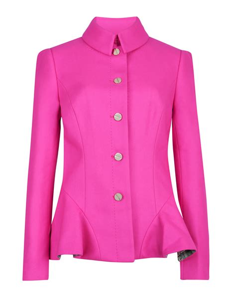Ted Baker Coat For Winter by Ted Baker Wool Peplum Coat In Pink Lyst
