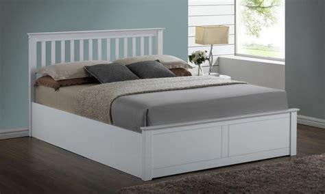 white wooden ottoman bed flintshire pentre 5ft kingsize white wooden ottoman bed by