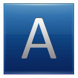 Letter A Letter A Blue Icon Multipurpose Alphabet Iconset Supratim Nayak