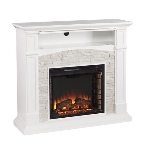 wildon home 174 sheldon faux media electric fireplace