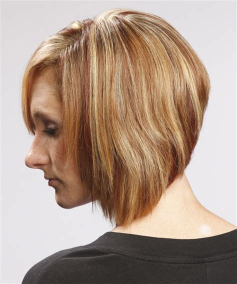 swept back casual haircust medium straight casual bob hairstyle with side swept bangs