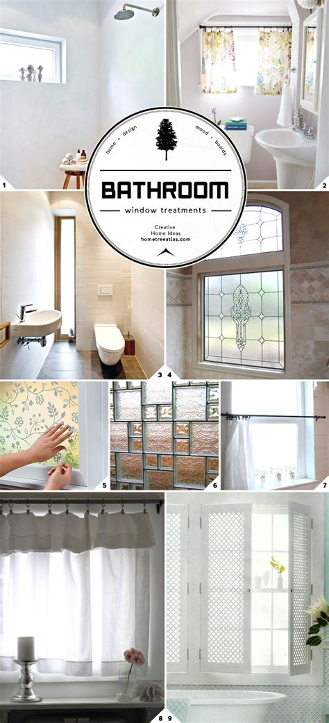 Bathroom Window Privacy Ideas | light and privacy ideas for bathroom window treatments