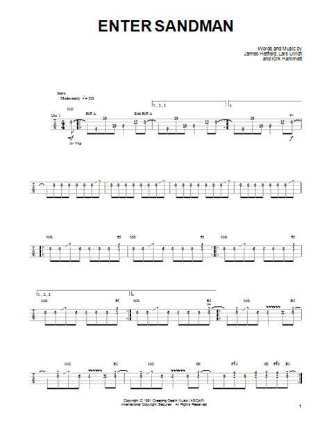 guitar tutorial enter sandman enter sandman by metallica ukulele guitar instructor