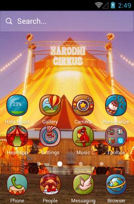 themes for android rio fun circus fun android theme for hola launcher androidlooks com