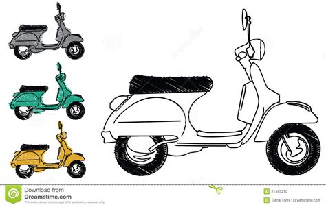 doodle vespa vespa scooter vector stock vector image of freedom